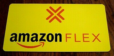 "1 AMAZON FLEX  100% Magnetic CAR VEHICLE SIGN  6"" x 12"" FREE SHIPPING! Yellow"