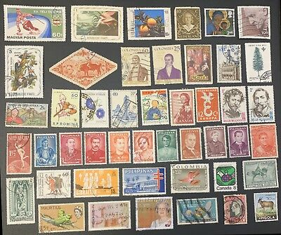 [Lot 163] 200 different Worldwide stamps (All stamps shown) NICE!
