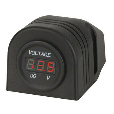 Simple Easy to Use Panel/Surface Mount LED Voltmeter 5-30VDC with Brackets