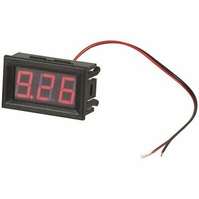 Super Simple Install Self-Powered Red LED Voltmeter for Caravans, Car, Vehicles