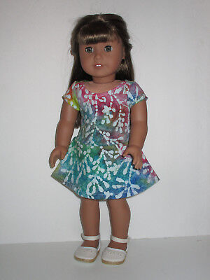 """Tie Dye Knit Dress for 18"""" Doll American Girl Doll Clothes"""
