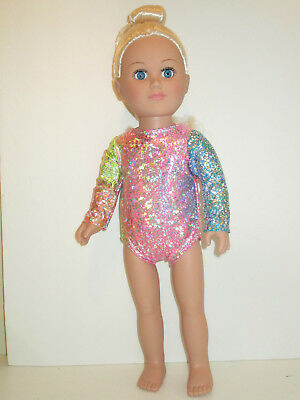 """Pastel Shiny Dance/Gymnastic Leotard for 18"""" Doll Clothes American Girl"""