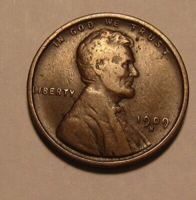 1909 S Lincoln Cent Penny - Very Fine + Condition - 3SA-2