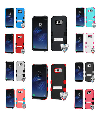 For Samsung Galaxy S8 TUFF Hybrid Phone Hard Impact Protector Case Cover w/Stand