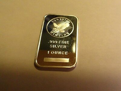 1 Troy oz. .999 Fine Silver  Bar  - Sunshine Mint