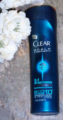 Clear Men Scalp Therapy Anti Dandruff Shampoo 2in1 Dry Scalp Hydration 12.9Fl Oz