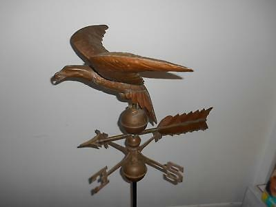 Antique COPPER EAGLE WEATHERVANE Hand Crafted American Folk Art STUNNING