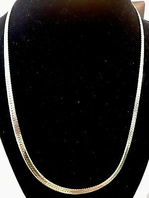 18K IP Yellow Gold Solid Stainless Steel Flat Necklace