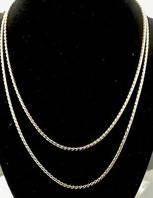 """14K IP Yellow Gold  Necklace 18"""""""