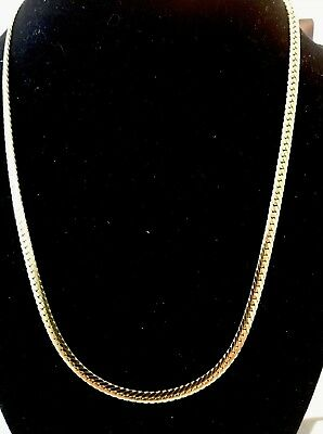 """18K IP Yellow Gold Solid Stainless Steel Flat Necklace 18"""""""
