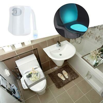 Toilet Night Light LED Motion Sensor Activated Bathroom Seat LED Light 8 Color