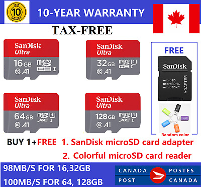 SanDisk Micro SD Class10 TF Memory Card 16GB 32GB 64GB 128GB SDHC Phone Laptop