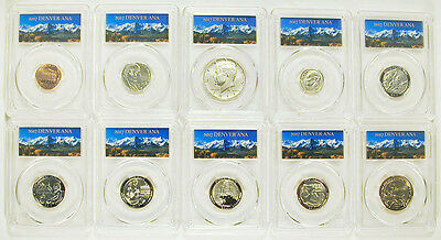 2017-S 10 Coin Set **first Day** Denver Ana Of Issue Pcgs Sp69  Enhanced Unc