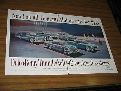 1955 Print Ad '55 GM Cars 5 Models Shown Delco-Remy Electrical Systems
