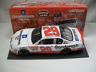 Action 1/24 Kevin Harvick #29 Goodwrench 2001 Limited Rookie Of The Year Diecast
