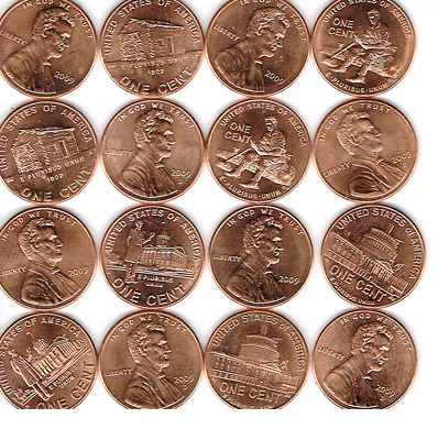 2009 Lincoln Bicentennial Uncirculated All Eight One Cent P & D Set!