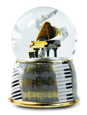 Snow Ball XL with the Game Clock Piano Wings, 15cm, Souvenir Music Concert