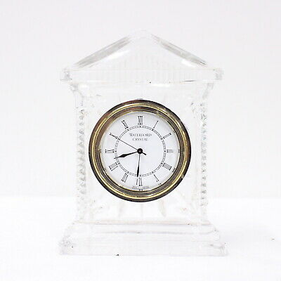 Vintage Waterford Crystal Mantel Clock Roman Numerals Japan Movement #454