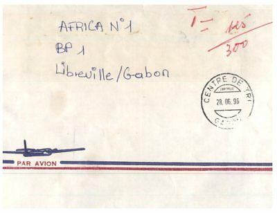 (M 3) Africa - Gabon - Letter posted with no stamp - TAX in Libreville
