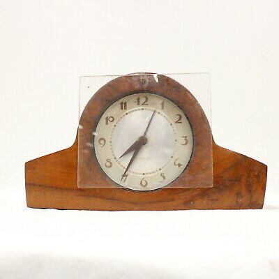 Vintage Westclox Electric Wooden Mantle Clock Made In USA For Parts Only #209