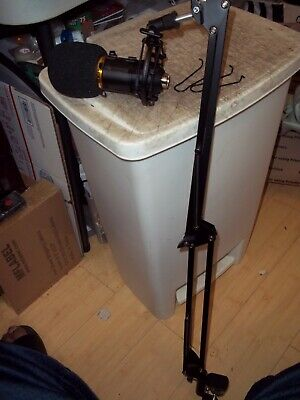"""Bm-800 Gold Grill Pro Audio Condenser Microphone On 30"""" Long Adjustable Stand"""