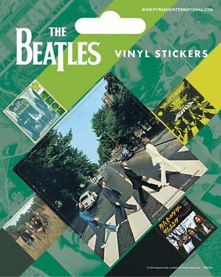Vinyl Sticker / Aufkleber-Set The BEATLES - Abbey Road 1x 6x6cm 4x 2cm NEU 7243