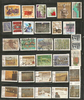 a stock page of recent used stamps from Canada.(C-3)