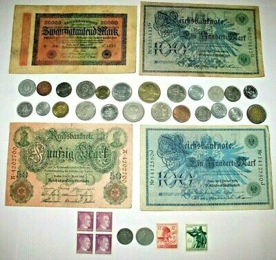 GERMANY WWII COINS WITH SWASTIKAS! GERMAN STAMPS, BANKNOTES, WORLD COINS! p10
