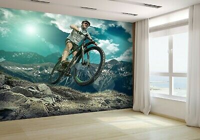 Man on the Bicycle Wallpaper Mural Photo 50688316 budget paper