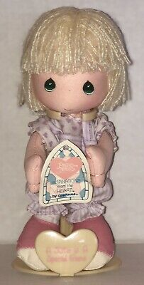 "Precious Moments Inspirations from the Heart 7"" Blonde Doll & Stand by Applause"