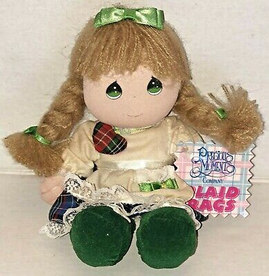 "Precious Moments Company Plaid Rags 8"" Doll 1994"