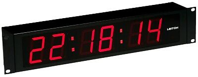 Leitch DTD-5225 Large Red LED Digital SMPTE/EBU Timecode Clock Date Wall Display