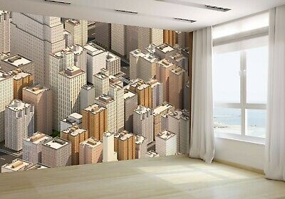 Isometric City Scape 3D Wallpaper Mural Photo 62239236 budget paper