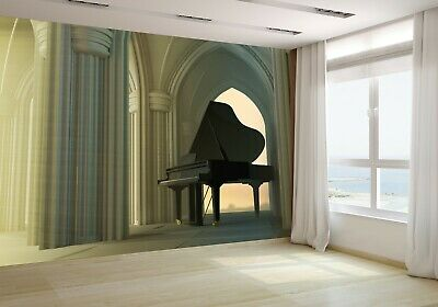 Grand Piano in the Gothic Church 3D Wallpaper Mural Photo 88441145 budget paper