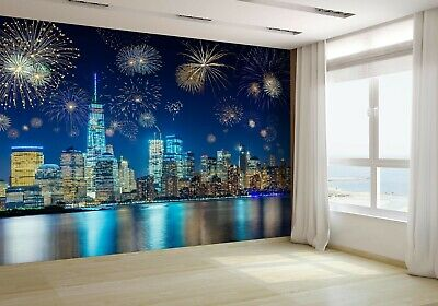 Fireworks in New York City Wallpaper Mural Photo 89126515 budget paper