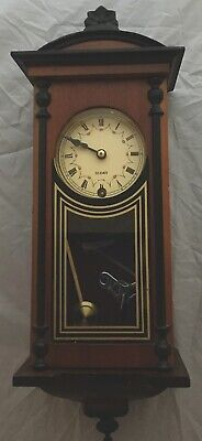 Vintage 31 Day Wind Up Miniature Wall Clock