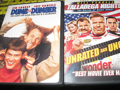 Two Comedy DVD's Jim Carey - Dumb & Dumber and Will Ferrell - Talladega Nights