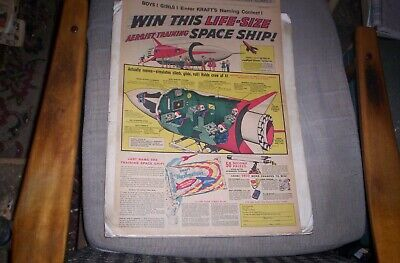 Lot of 8 1950's Outer Space Sunday Comic Ads FLYING SAUCERS,SPACE SHIPS,etc.