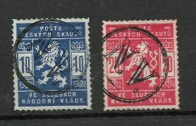 Czechoslovakia pathfinders / scouts with special N.V postmarks (T18)