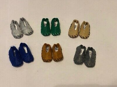 Set Of 6 Mens Shoes ,  Slippers  For A 1/12 Scale Dolls House