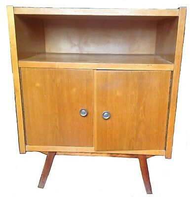 Nightstand Mid-Century Modern 1960's Polished Wood Laquered