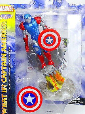 Marvel Diamond Select Toys What If? Captain America Actionfigure / Pvc Statue 8""