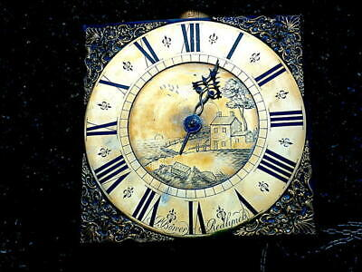 C1740 30HR LONGCASE GRANDFATHER CLOCK DIAL+movement 10X10  P  Bowyer of redlinch