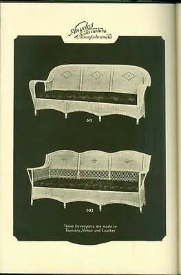 1924 Los Angeles Angelus Furniture Catalog Wood & Reed