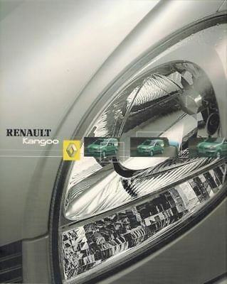 Renault Kangoo 2003 UK Market Brochure Authentique Expression models