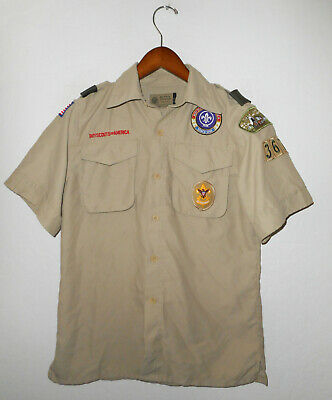 BOY SCOUTS Of America UNIFORM Shirt #367 BSA VENTED BACK Scout YOUTH Boys : Lg