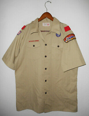 BOY SCOUTS Of America UNIFORM Shirt BSA Official Scout YOUTH Boys 2X-LARGE XXL
