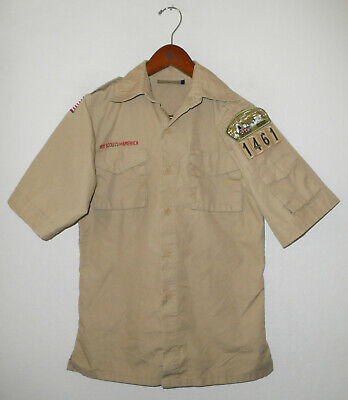 BOY SCOUTS Of America UNIFORM Shirt #1461 BSA Official Scout YOUTH Boys LARGE Lg