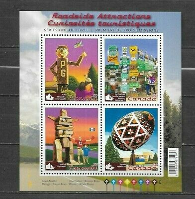 pk41654:Stamps-Canada #2335 Roadside Attractions 4 x 54 cent Souvenir Sheet -MNH