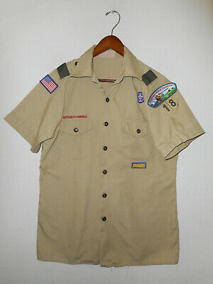 BOY SCOUTS Of America UNIFORM Shirt #18 Official BSA Scout USA Adult Mens : MD